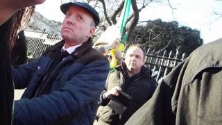 Gerry Adams Stands in his Constituency