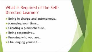 Self-Directed Learning for the Reflective-Reflexive Practitioner
