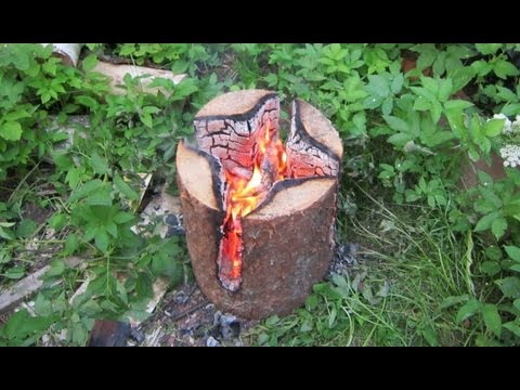 видео: Как сделать табуретку из бревна методом выжигания / Мебель Секрет Мастера