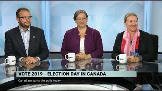 Candidates discuss overall campaign on election day