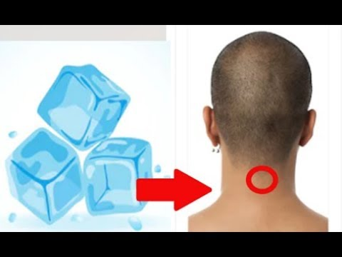 Be Healthy And Youthful : Put An Ice Cube At This Point On Your Head