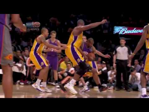 Leandro Barbosa speed drive to the hole for the lay up and one Lakers Suns Conference Finals