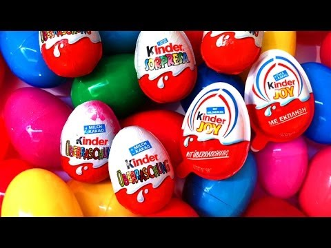 14 Surprise Eggs Kinder Surprise Spongebob Cars 2 Spongebob Huevos Kinder Sorpresa Travel Video