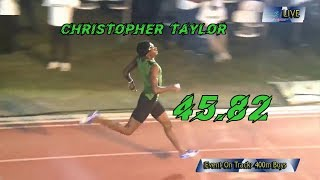 19 y/o Christopher Taylor sizzles to 45.82s in the 400m season opener McKenly/Wint Classic 2019