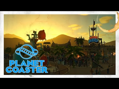PLANET COASTER - Ep 1 - Getting started! It's time to clean up the puke!