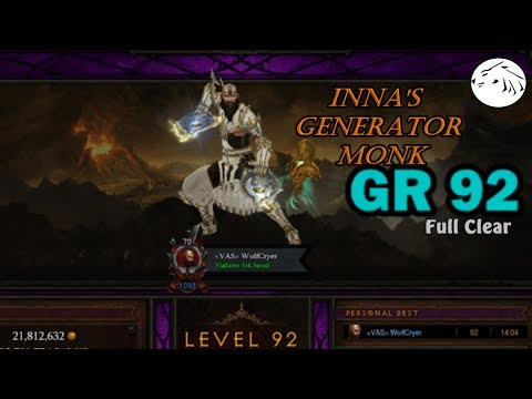 diablo-3-s10-gr-92---solo-monk-inna's-generator-build-full-clear-w/-royalty-free-music