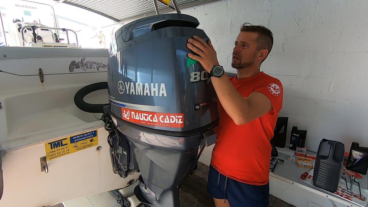 Cambio de aceite motor fueraborda yamaha