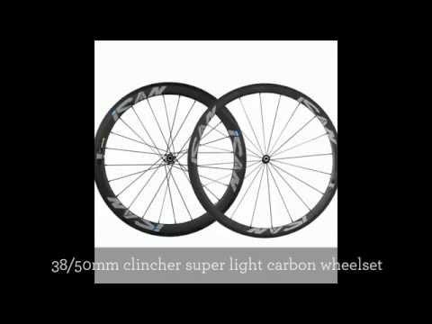 ICAN 38mm Front 50mm Rear Carbon Clincher Wheelset Sapim Spokes