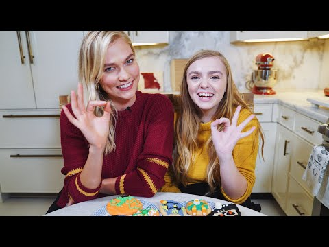 Decorating Halloween Cookies with Elsie Fisher from Eighth Grade! | Spooky Karlie Kloss