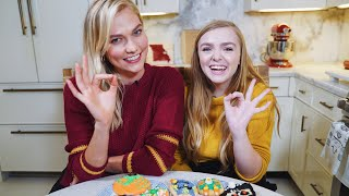 Decorating Halloween Cookies with Elsie Fisher from Eighth Grade! | Spooky Karlie Kloss thumbnail