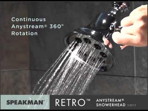 Speakman S-3015 Retro Anystream Solid Brass High Pressure Adjustable Shower Head Review
