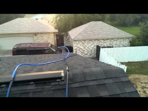 Pool solar heating panel hookup to pool pump.