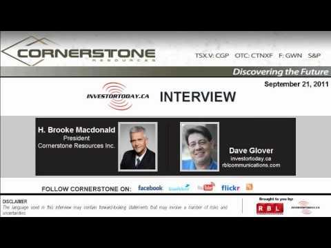 InvestorToday.ca: Cornerstone Resources