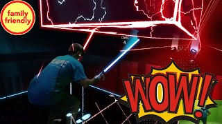 Sound corrected at 3:30! Beat Saber VR powered by LIV expert gameplay!  Windows Mixed Reality TeamCC