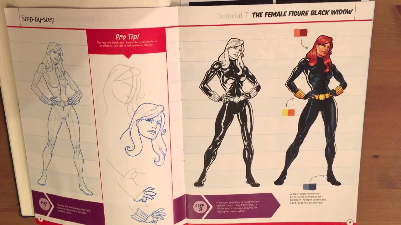 Draw The Marvel Way Issue 4 Black Widow