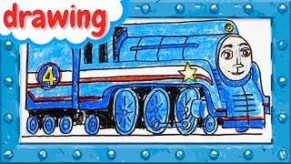 How to Draw Shooting Star Gordon  ♦ Thomas and Friends ♦ Drawing and Colors Learning video