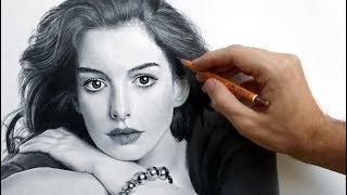 Портрет Энн Хэтэуэй карандашом (Anne Hathaway - portrait drawing video)(Как нарисовать портрет Энн Хэтэуэй карандашом (drawing portrait of Anne Hathaway) - ускоренное видео от художника Андрея..., 2015-10-02T17:42:33.000Z)