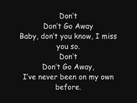 Don't Go Away- BY2 Lyrics