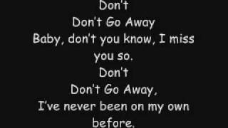Don't Go Away- BY2 Lyrics