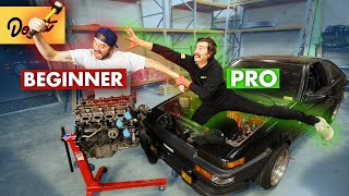 Beginner vs Pro - Pulling an Engine