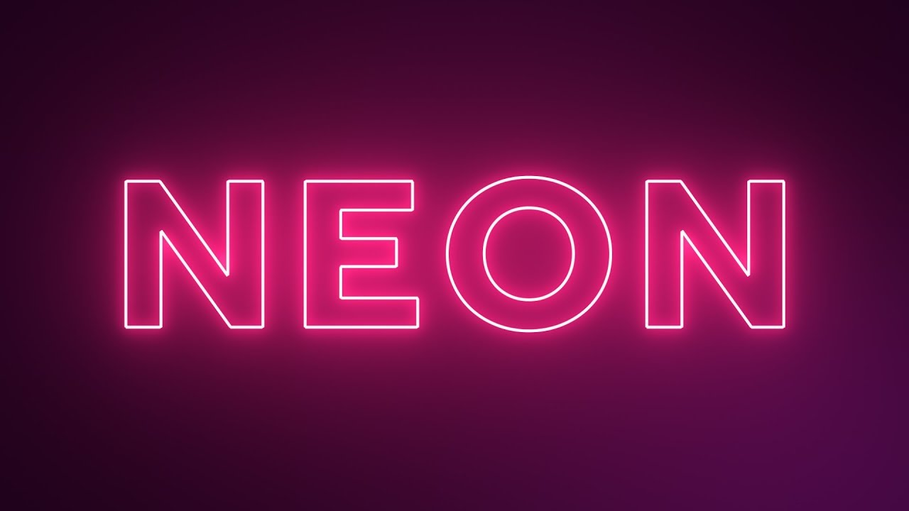 Neon Text Effect - After Effects Tutorial (Free Project)