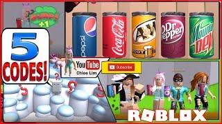 Roblox Soda Drinking Simulator! 5 CODES and TOO MUCH SODA! BURP!