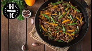 Chinese black pepper beef #Ad