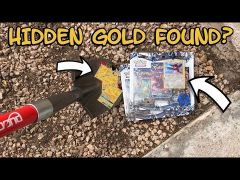 DIGGING FOR SECRET POKEMON CARDS IN THE GROUND! (did we find gold?)