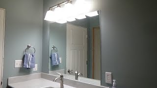 How to Install a Mirror Using Adhesive  - Gluing a Vanity Mirror