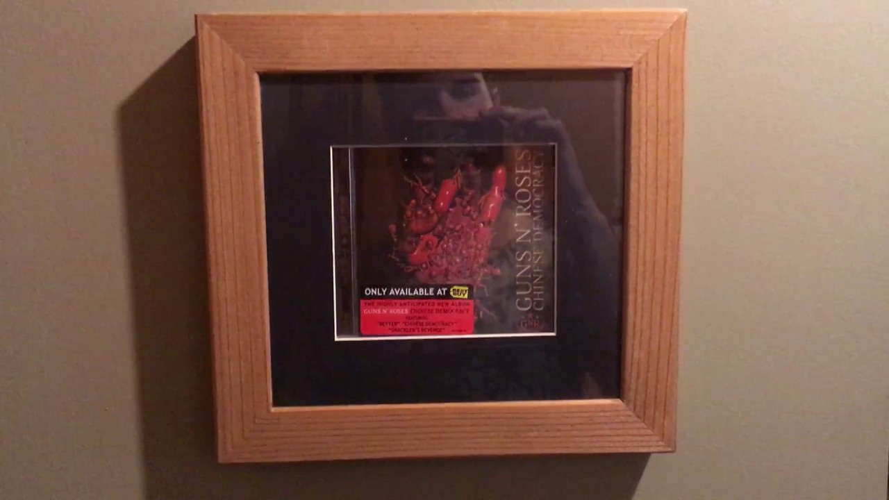 Guns N' Roses Chinese Democracy Red Hand Rare Cover B Framed