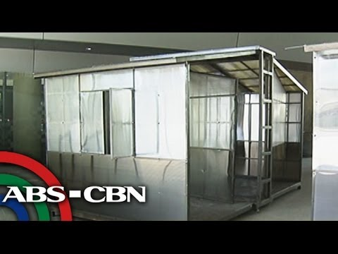 LOOK: Foldable houses for Yolanda survivors - YouTube