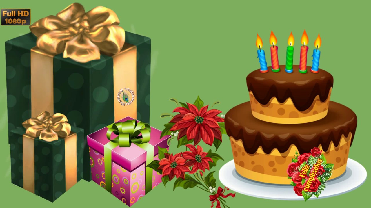 Happy Birthday In Spanish Greetings Messages Ecard Animation Latest Wishes Video