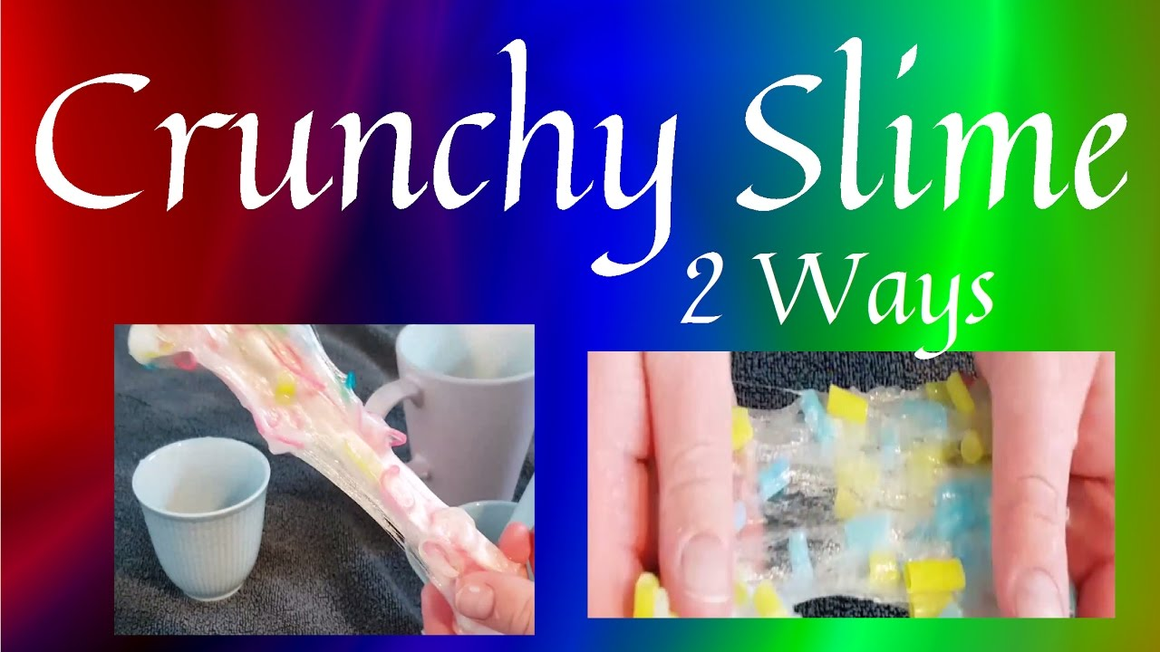 2 ways to make crunchy slime rubber band slime and drinking straw 2 ways to make crunchy slime rubber band slime and drinking straw slime ccuart Images