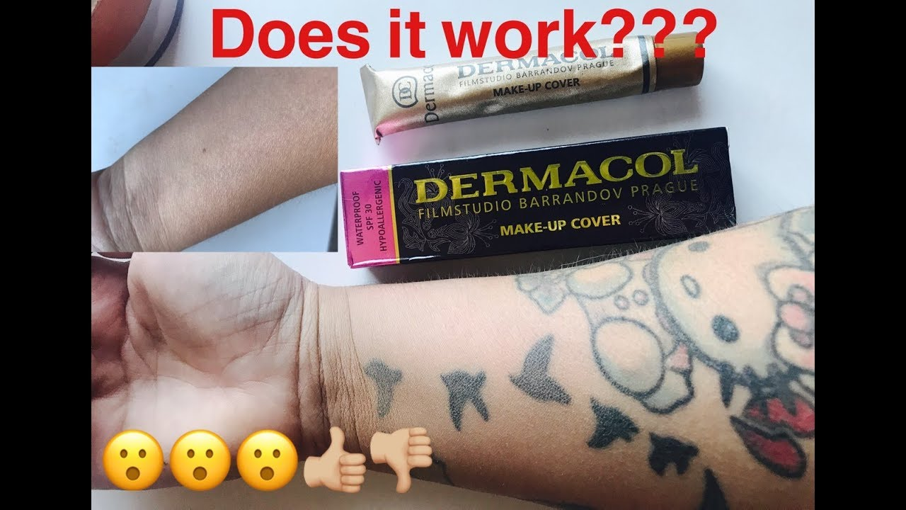 Dermacol Tattoo Cover Up, Does It Work? - YouTube