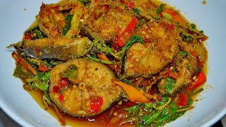 How to make Catfish Spicy Curry & Cumin - How to make thai food