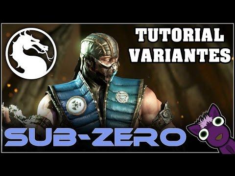 Mortal Kombat X (PS4), Tutorial de variantes - SUB-ZERO - Español