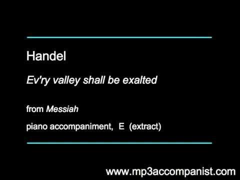 Handel: Ev'ry valley shall be exalted (Messiah) - Piano Accompaniment
