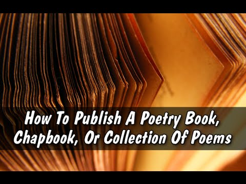 How to self publish a book of poems