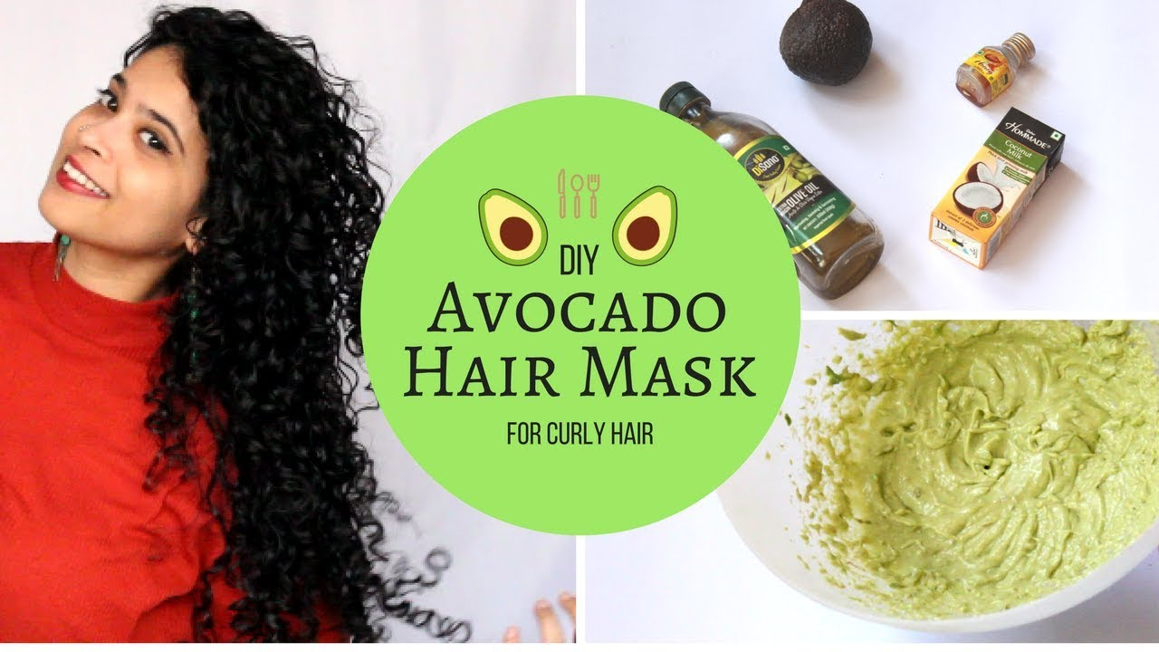 Diy Avocado Hair Mask Long Healthy Curly Hair Recipe Results