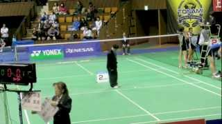 Badminton 全日本総合 準々決勝 松尾静香、内藤真実(パナソニック) vs...