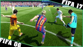 LIONEL MESSI long shot goals [FIFA 06 - FIFA 17] ⚽