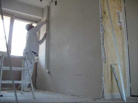 Plastering a thick layered wall ( Part 1 )
