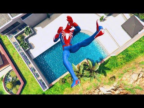 GTA 5 SPIDERMAN/Ragdolls Falls compilation #5 (GTA 5 Fails Funny Moments/Ragdolls)