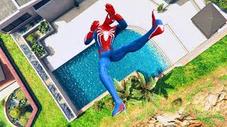 GTA 5 SPIDERMAN/Ragdolls Falls compilation #5 (GTA 5 Fails Funny Moments/Ragdolls)