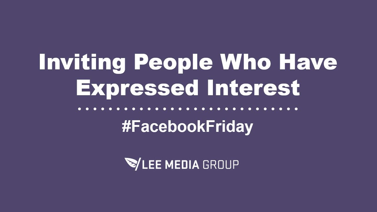 How To Invite Interested People To Like Your Business Facebook Page