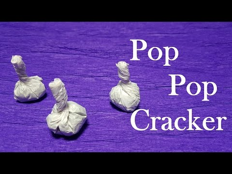 How to Make Pop It Cracker Using Matches