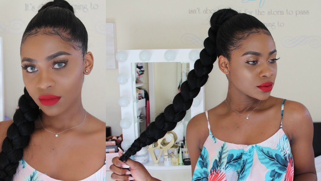 how to: jumbo braid ponytail. (easy & quick)