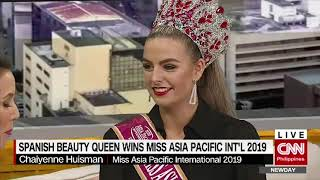 Spanish beauty queen wins Miss Asia Pacific International 2019