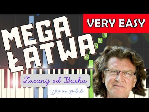 🎹Zacznij od Bacha (Zbigniew Wodecki) - Piano Tutorial (MEGA ŁATWA wersja) 🎹