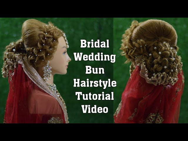 Bridal Hairstyle Tutorial Video द लहन व ल